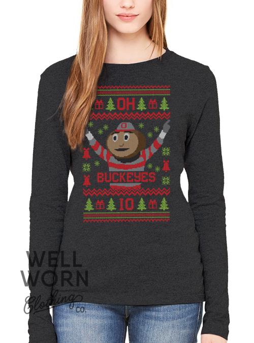 WWCC Buckeyes Ugly Christmas Tee