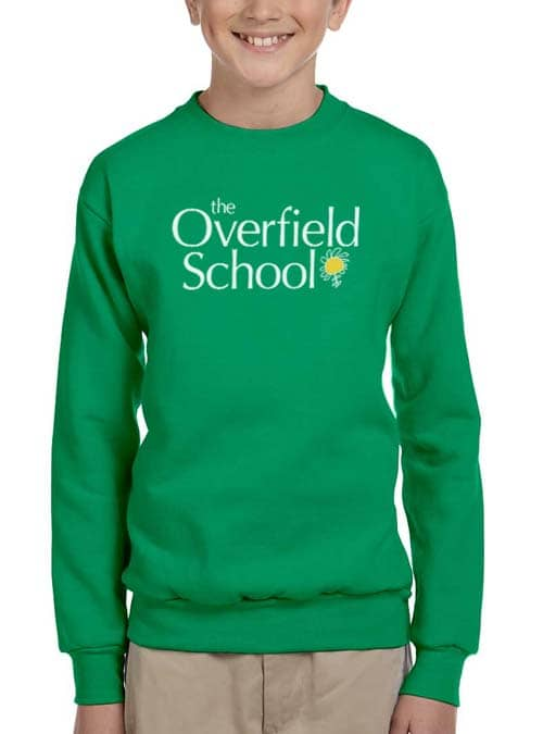 Overfield School Green Sweatshirt