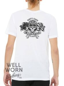 Luke Hall Dirty Rags to Checkered Flags Tee   Well Worn Clothing Co.